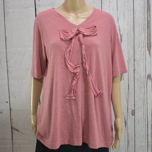 Simply by Vera Wang Fabric Bow Blouse